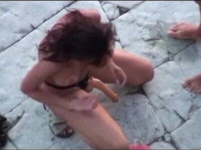 Wife sucks fucks the bitch on another greek beach | -beach-bitch-sissy-wife-
