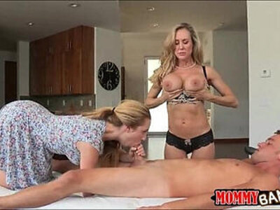 Taylor Whyte and Brandi Love sharing dick on massage table | -dick-love-massage-sharing-stepmom-table-