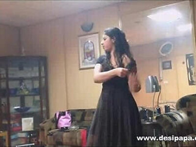 indian wife in bedroom dancing for hubby to tease him to make his mood for sex | -bed-dancing-hubby-indian-old man-teasing-