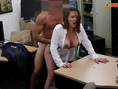 Horny busty woman fucked in the backroom for a plane ticket | -busty-horny-lady-