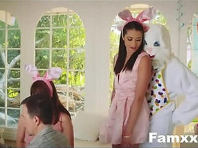 Hot Teen Fucked By Easter Bunny uncle | -stepdad-teen-uncle-