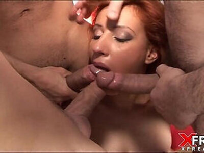 Gang Bang and double penetration for incredible redhead | -double-gangbang-incredible-redhead-