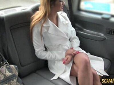 Hot lady in fishnet lingerie gets her cunt fucked by new cabbie | -cunt-fishnets-lady-lingerie-
