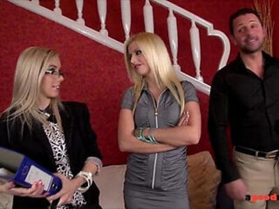 Slutty real estate agent fucks her clients to sell the property | -agent-slutty-