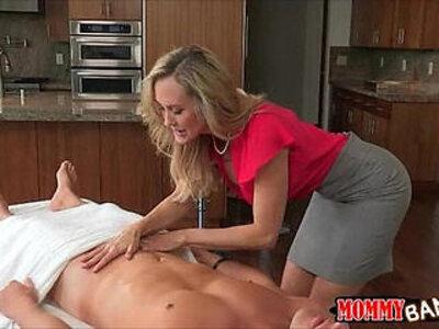 Big tits milf Brandi Love threesome session on massage table | -3some-big tits-love-massage-milf-stepmom-