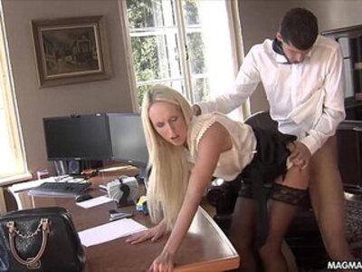 MAGMA FILM Fucking the office secretary | -glasses-office-secretary-