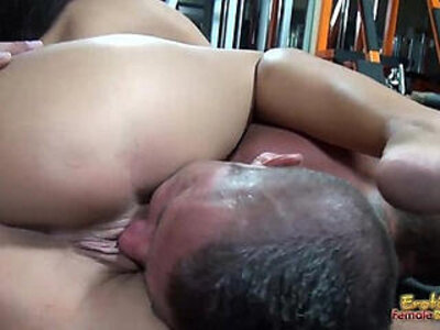 Rounded big tits and erotic lips used for smothering and teasing slave | -big tits-erotica-facesitting-slave-teasing-