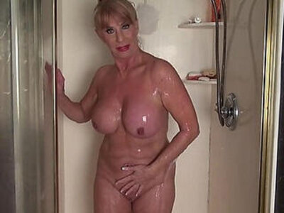 Mature woman in the shower | -high definition-mature-shower-woman-
