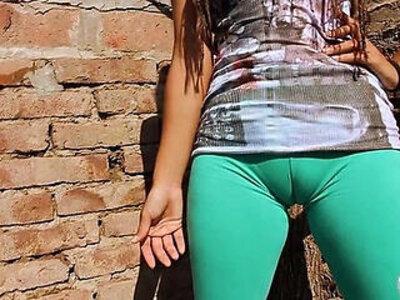 Big Cameltoe Teen In Ultra Tight Leggins! Big Round Ass n Tits | -cameltoe-round-teen-tight-tits-