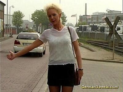 pickup German for backseat facial | -facials-german-pickup-public-