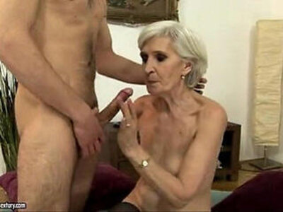 Sexy blonde fucking and sucking a young guy   -blonde-gay-granny-sucking-young-