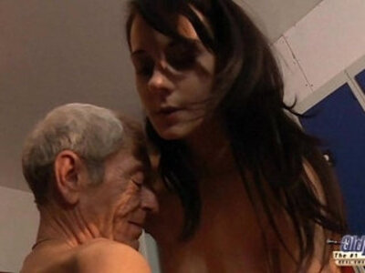Young girl is so kinky that fucks an old fart in a locker room | -fart-kinky-older-young-
