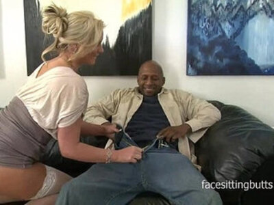 Horny cougar has a thing for huge black monster cocks | -black-black cock-cougar-facesitting-horny-monster cock-