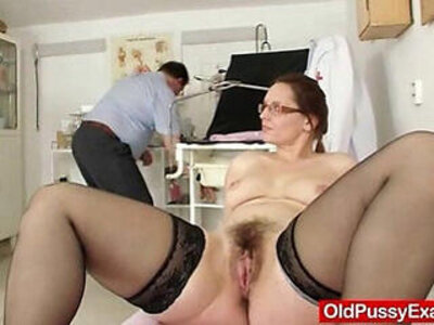 Milf hairy wet pussy closeups and real gyno exam | -closeup-glasses-hairy-milf-wet-
