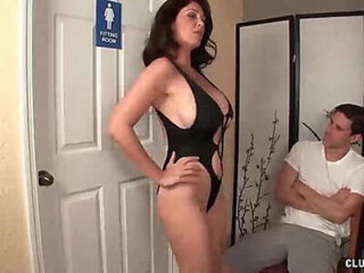 Angry step mom jerking the young man | -jerking-stepmom-young-