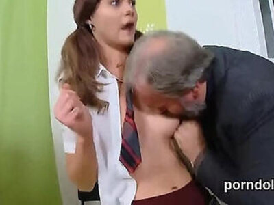 Pretty girl gets teased and pounded by her older teacher | -classroom-college-older-pounding-pretty-teacher-