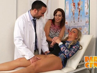 Lesbian gets examined and cured by handsome doctor PARTYCFNM | -couple-doctor-lesbian-