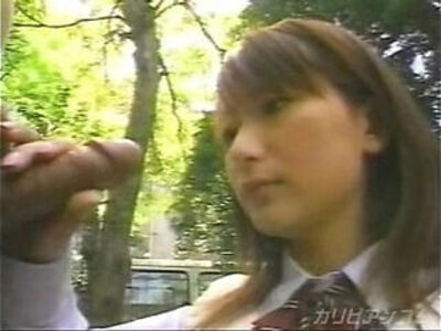Japanese Schoolgirl Blowjob in the park | -blowjob-japanese-park-school girl-
