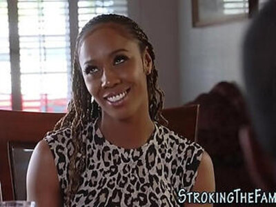 Black stepdaughter jizzed | -black-jizz-older woman-stepdaughter-
