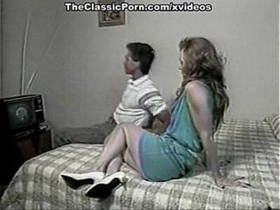 Ginger Lynn Allen, Tiffany Blake, Tom Byron in classic porn movie | -classic-readhead-vintage-