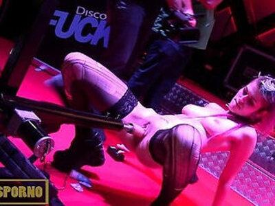 Two girls fucking an automatic driller | -girl-sex machine-
