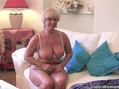 Chubby with big old tits sucks and fucks a vibrator | -chubby-grandma-older-tits-vibrator-