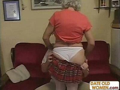 Horny Grandma Felt Up and Fucked Hard | -grandma-horny-old and young-