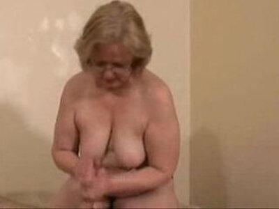 Gorgeous slut jerking young cock Amateur older   -amateur-cock-gorgeous-granny-jerking-older-