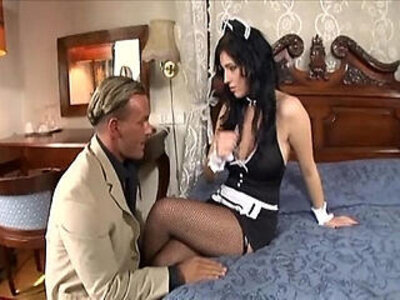 Maid fucking in her uniform and fishnet stockings | -fishnets-maid-milf-stockings-uniform-