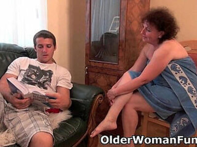 Chubby granny gets drilled on the couch | -chubby-couch-drilling-grandma-