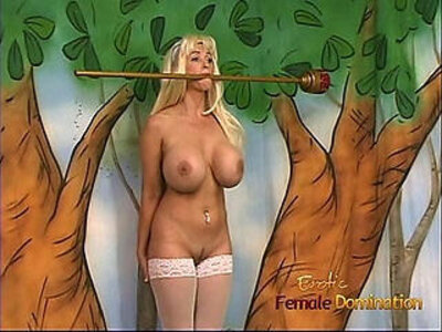 Ravishing blonde with massive tatas gets spanked by her mistress   -blonde-mistress-