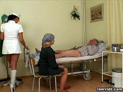 Nubile Nurse Gets a Show | -nurse-