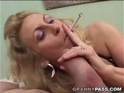 Smoking Mature Gives Blowjob To A Fat Cock | -blowjob-cock-fat-mature-smoking-