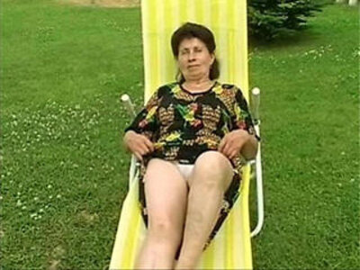 Granny Marie gets his ass fucked really hard by the pool   -ass fucking-girl-granny-pool-